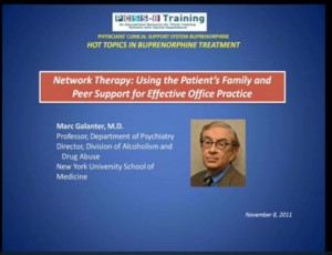 Suboxone  Therapy : Using Network Therapy
